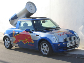 Speakers large red bull car